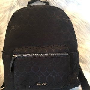 Nine West Black Canvas Backpack